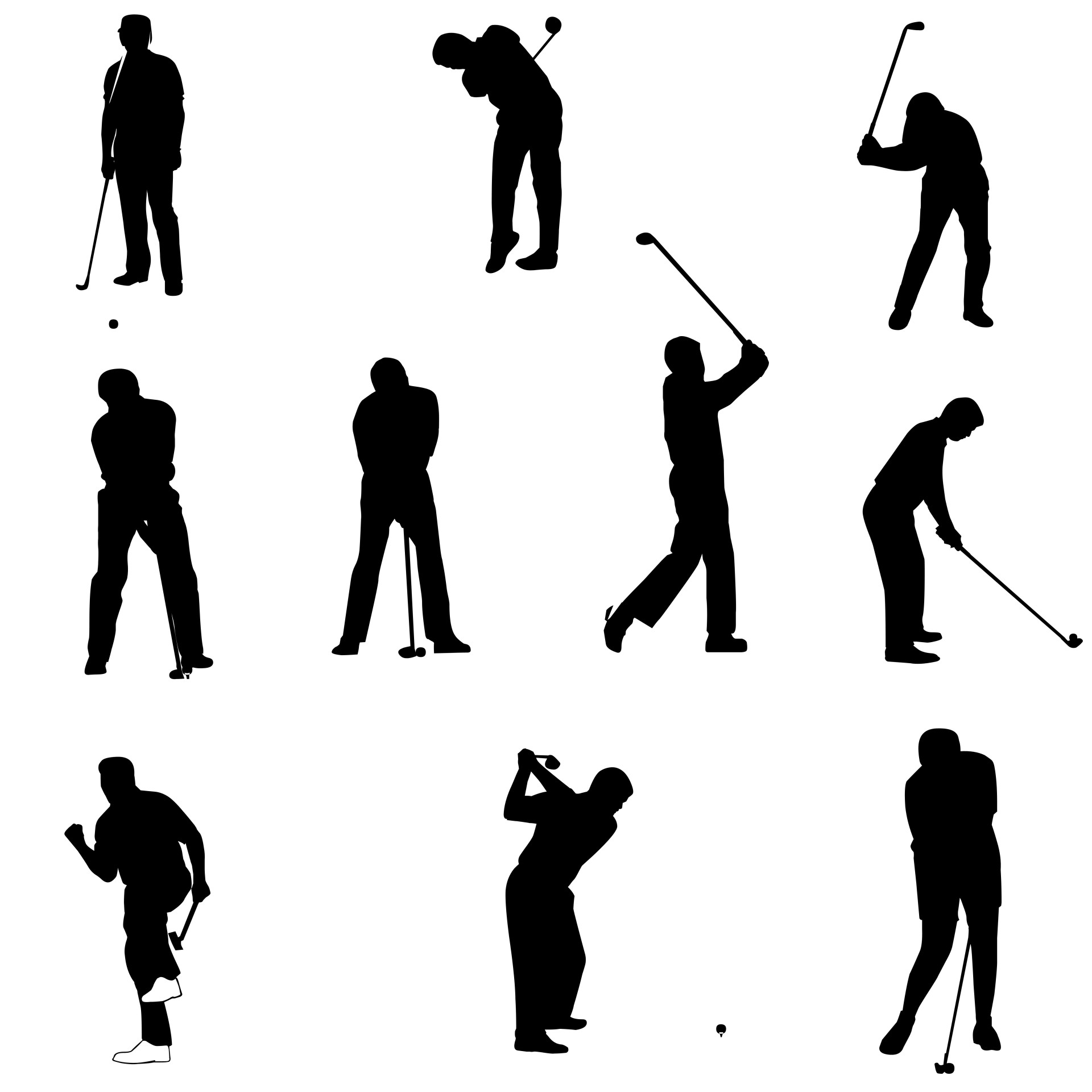golf-silhouettes